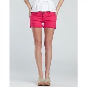 Lucky Brand Pink Riley Cut Off Shorts